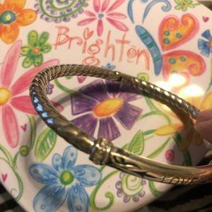 Brighton silver bangle with hinge 'LOVE'